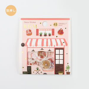 BGM gold foil washi sticker flakes - Afternoon tea BS-FG083