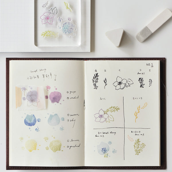 MU floral clear stamp set #1 BSS-001001