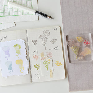 MU floral clear stamp set #2