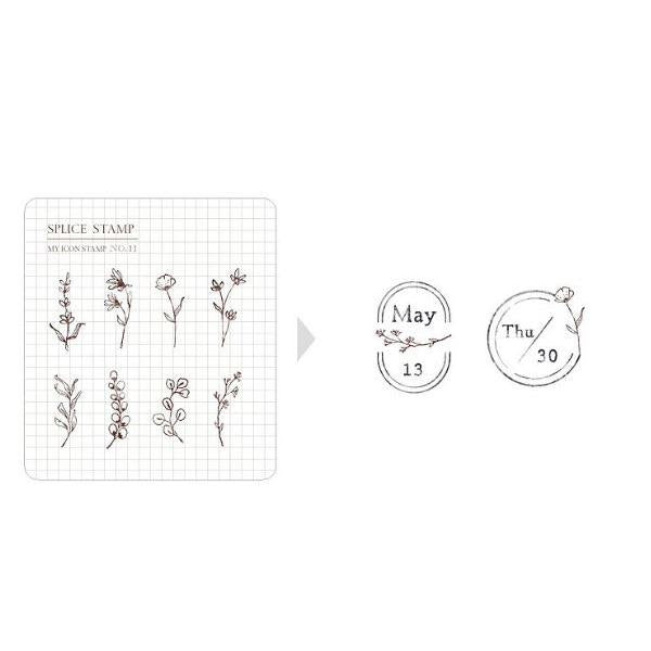 MU my icon clear stamp set #11