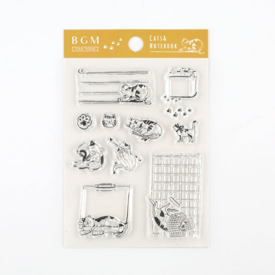BGM clear stamp set - Planner cat BT-CS003