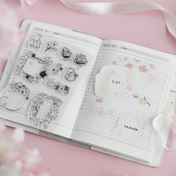BGM clear stamp set - Sakura BT-CS004