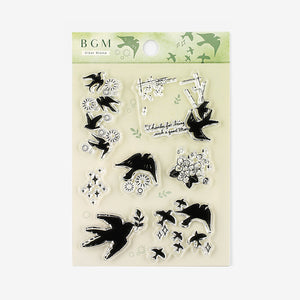 BGM clear stamp set - Swallow BT-CS025