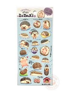 Mind Wave animal seal - Hedgehog clear sticker 80600