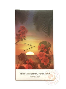 Appree nature scene sticker - Tropical sunset ANS-002