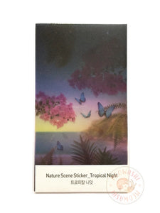 Appree nature scene sticker - Tropical night ANS-003