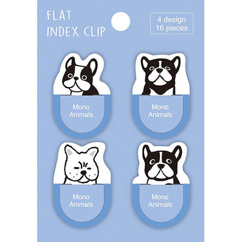 Pine Book flat index clip - French bulldog FC00031