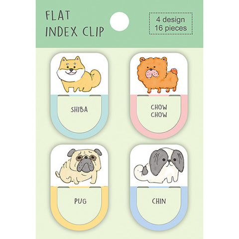 Pine Book flat index clip - Dogs FC00039