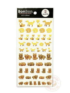 Mind Wave BonBon sticker - Fox and raccoon 80698