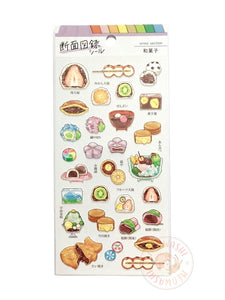 Mind Wave food cross section sticker - Wagashi 80640