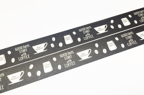 Green Flash Owl Products - Coffee beans washi tape OW-057