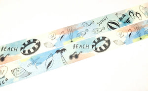 Green Flash chobit wit - Beach washi tape CW-128