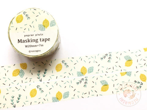 Papier Platz nocogou - Lemon and rosemary washi tape 37-665
