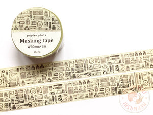 Papier Platz Eric small things - Stationery rough washi tape 37-676