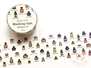 Papier Platz Eric small things - Bottle ink washi tape 37-677