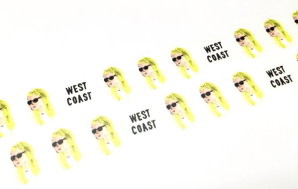 Round Top x Hirano Toshiyuki - West coast girl die cut washi tape