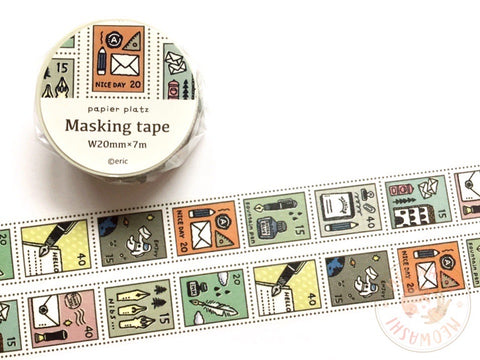 Papier Platz Eric small things - Stamp washi tape 37-678