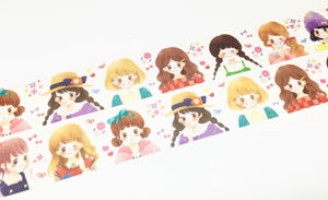 Hoshizora illustration - Cute girls washi tape
