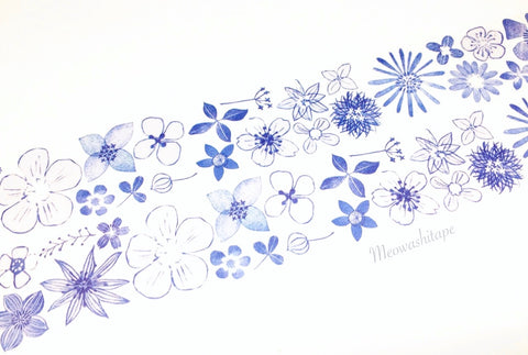 Chamil garden Vol.6 - Navy flower washi tape MTW-CH063