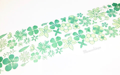 Chamil garden Vol.6 - Green flower washi tape MTW-CH064