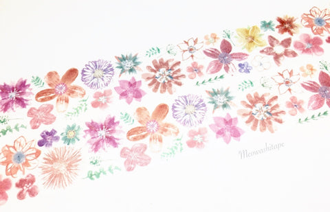 Chamil garden Vol.7 - Orange flower washi tape MTW-CH075