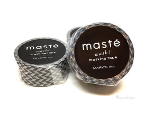 Mark's maste BASIC - Black and white rhombus washi tape