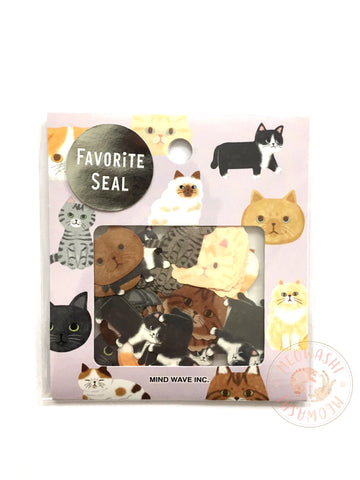 Mind Wave favorite seal - Cat sticker flakes 79118