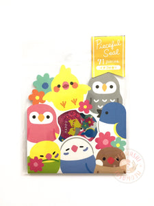 Mind Wave pieceful seal - Lovely birds sticker flakes 79389