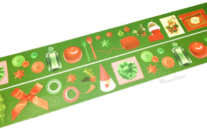 Kamoi mt X'mas - Red and green items washi tape