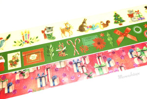 Kamoi mt X'mas 2016 washi tape set - Style B