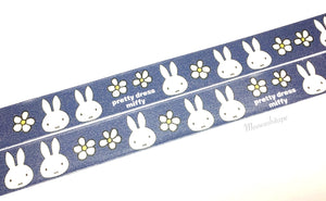 Miffy and flowers washi tape