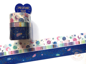 Mind Wave - Cosmic space gold foil 3 rolls set 94130
