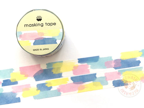 Mind Wave - Watercolor pattern washi tape 94180