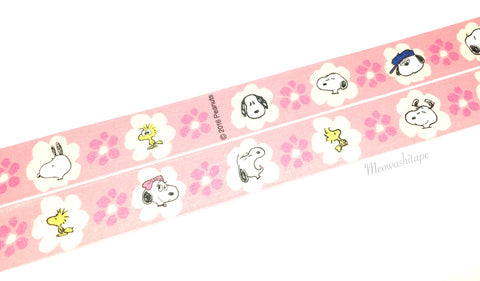Floral Snoopy washi tape