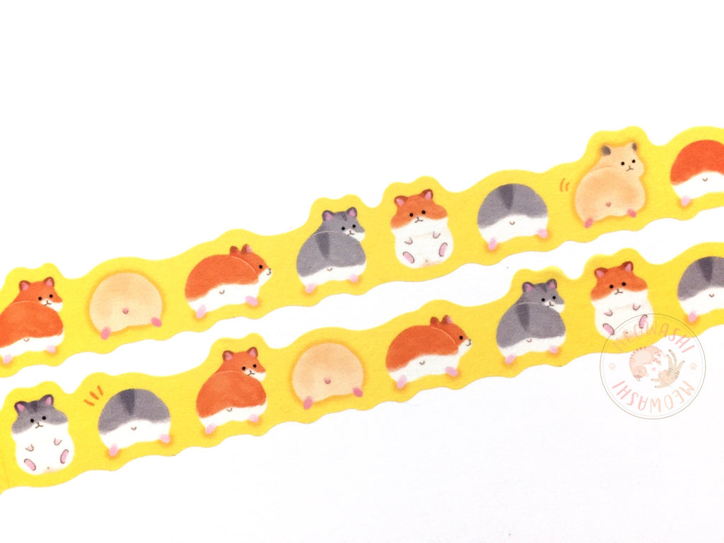 Mind Wave - Hamster butt die cut washi tape – Meowashi