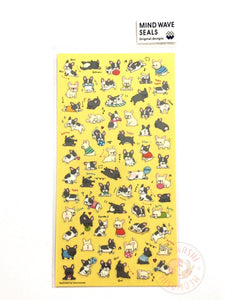 Mind Wave - French bulldog clear sticker 78829