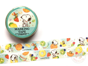 Snoopy tropical fruits washi tape 23155