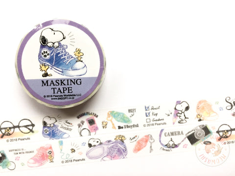 Kicking it with Snoopy washi tape