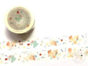 Liang Feng Watercolor Guide Vol.2 washi tape - Coral MTW-LF068