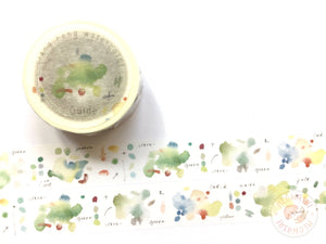 Liang Feng Watercolor Guide Vol.2 washi tape - Grass green MTW-LF071