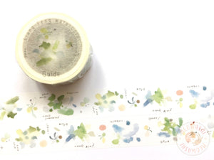 Liang Feng Watercolor Guide Vol.2 washi tape - Stream green MTW-LF072