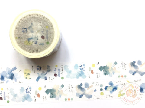 Liang Feng Watercolor Guide Vol.2 washi tape - Ocean tide MTW-LF073