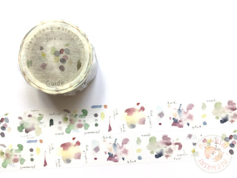 Liang Feng Watercolor Guide Vol.2 washi tape - Grape MTW-LF074