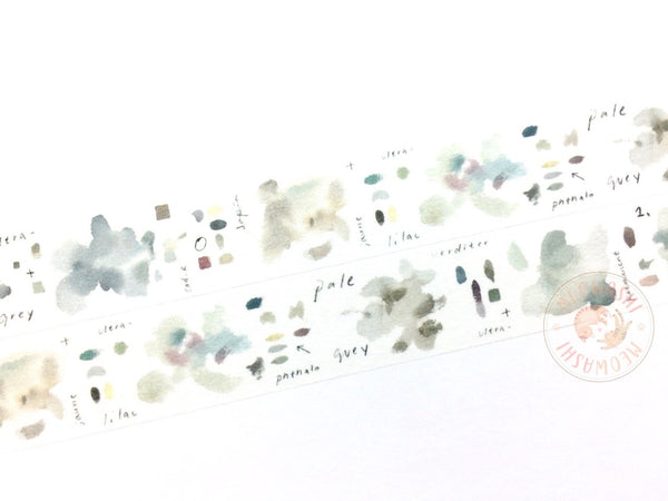 Liang Feng Watercolor Guide Vol.2 washi tape - Grey MTW-LF075