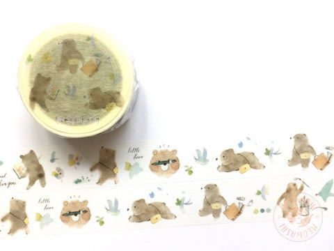 Liang Feng Watercolor Guide Vol.2 washi tape - Spring bear MTW-LF076