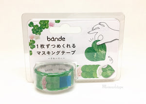Bande - Clover washi stickers roll BDA219