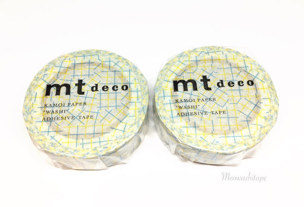 Kamoi mt deco 2017ss - Check collage yellow washi tape MT01D348