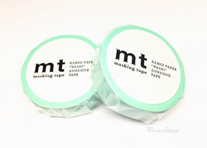 Kamoi mt basic 2017ss - pastel emerald washi tape MT01P355
