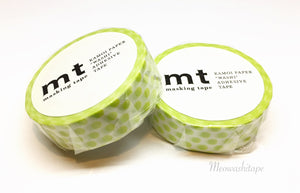 Kamoi mt deco 2017ss - dot lime washi tape MT01D362
