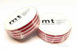 Kamoi mt deco 2017ss - border framboise washi tape MT01D383